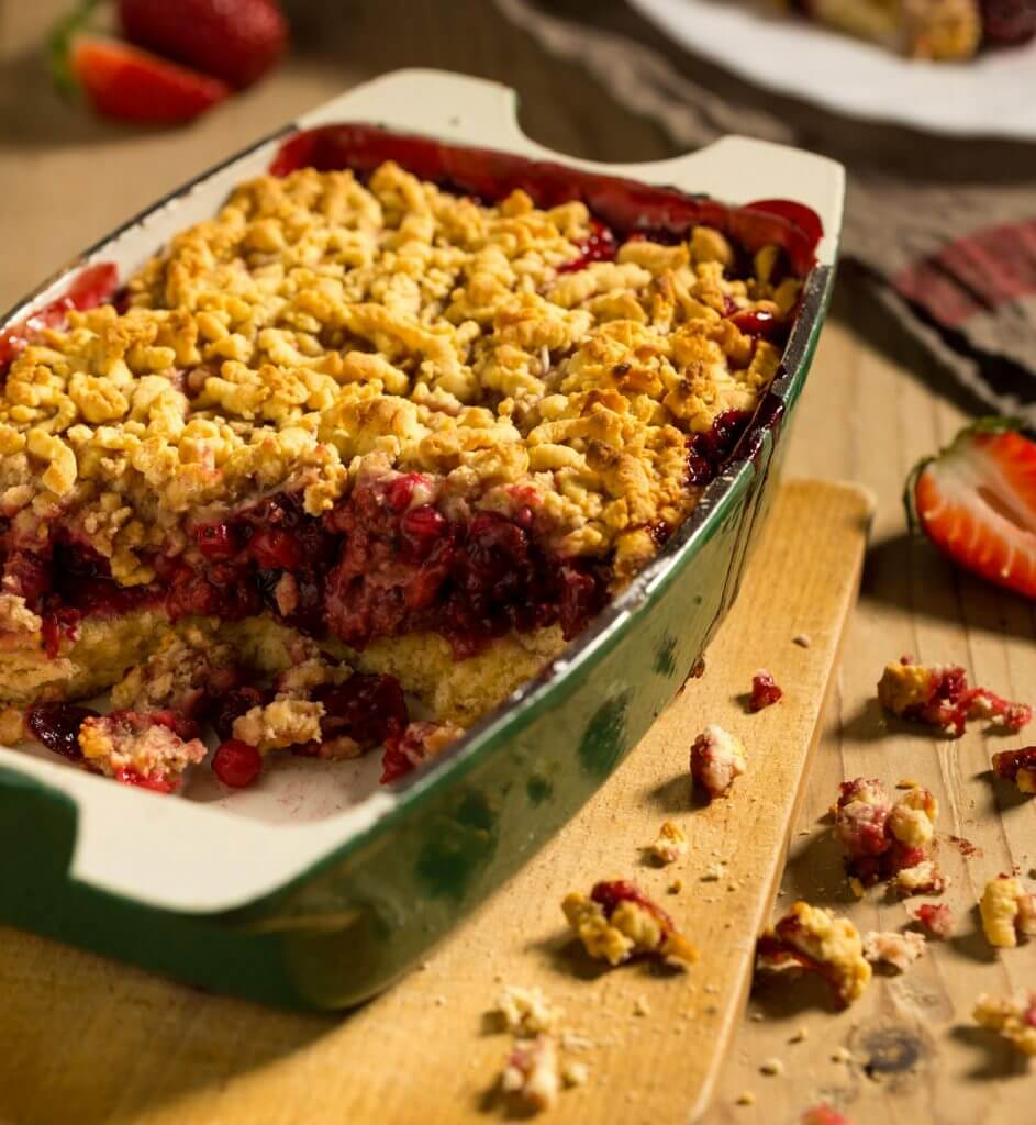 Crumble aux fruits rouges sans gluten